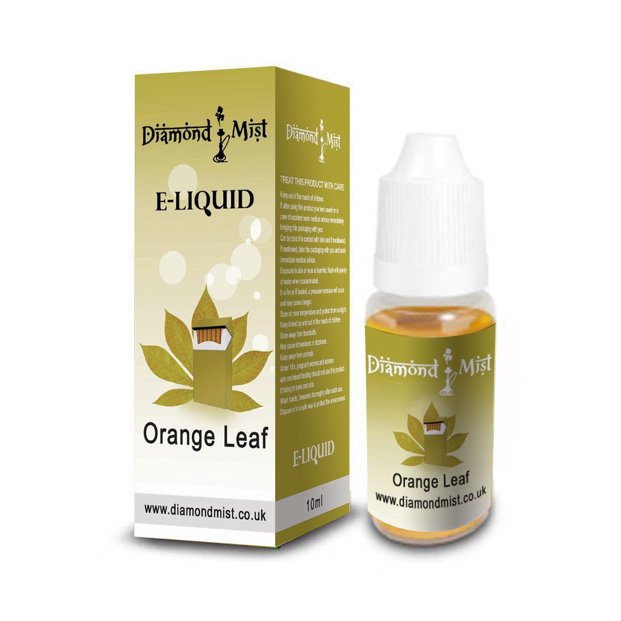 Orange Leaf Tobacco Flavour E Liquid Refill Bottle 10ml