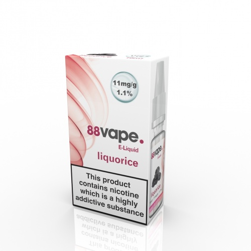 88 Vape - Liquorice Flavour E-Liquid Refill Bottle 10ml