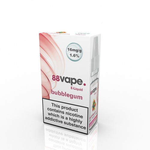 88 Vape - Bubble Gum Flavour E-Liquid Refill Bottle 10ml