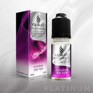 Vapouriz - Platinum Range Cherry On Top E Liquid 10ml Refill Bottle