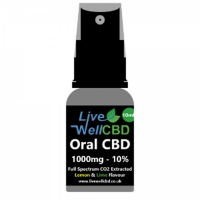 Live Well CBD 10ml Oral CBD – Spray Cap – 1000mg (10%)