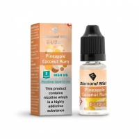 Diamond Mist 'Pineapple Coconut Rum' Flavour High VG Liquid 3mg