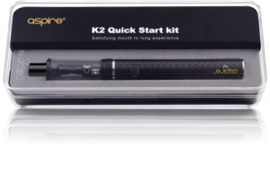 Aspire K3 Quick Start Kit 2ml Tank 1200 mAh Battery - Black
