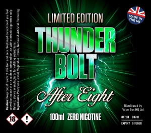 Thunder Bolt - After Eight - 100ml Short Fill  - 0mg