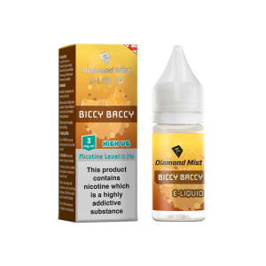 Diamond Mist 'Biccy Baccy' (Biscuit Tobacco) Flavour High VG Liquid 3mg