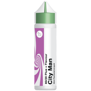 City Vape Flavour+ Range - City Man E-Liquid 50ml 0MG