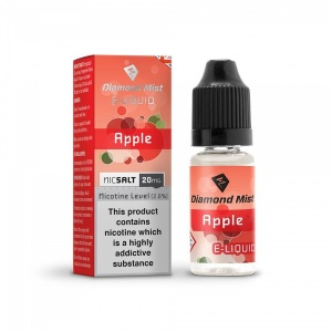 Diamond Mist Nic SALT Apple Flavour E-Liquid 10ml - 10mg & 20mg