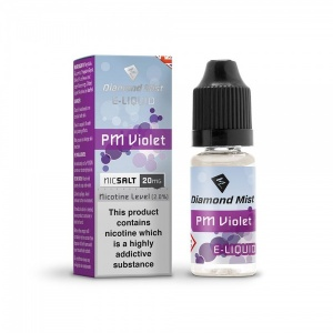 Diamond Mist Nic SALT PM Violet Flavour E-Liquid 10ml - 10mg & 20mg