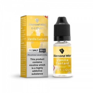 Diamond Mist Nic SALT Vanilla Custard E-Liquid 10ml - 10mg & 20mg