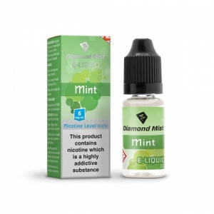 Diamond Mist - Mint Flavour E-Liquid Refill Bottle 10ml**OUT OF DATE**