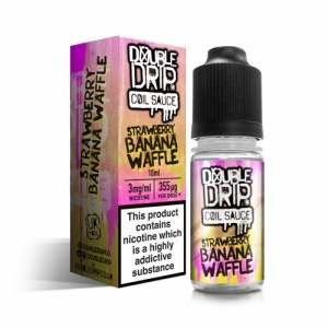 Vapouriz - Double Drip - Strawberry Banana Waffle Sub-Ohm E-Liquid 10ml