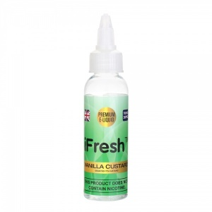 i Fresh - Vanilla Custard Flavour E-Liquid 50ml - 0MG