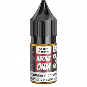 Above-Ohm - Cherry Menthol Flavour E-Liquid Refill Bottle 10ml