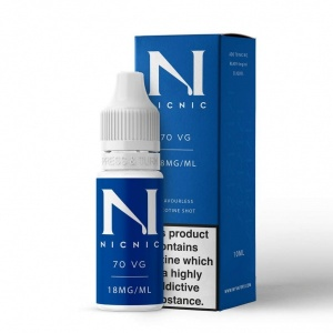Nic Nic- Nicotine Shots Nic Shot E Liquid Juice 18mg 70VG/30PG 10ml Bottles