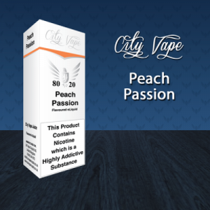City Vape - Peach Passion E-Liquid 10ml (80VG/20PG)