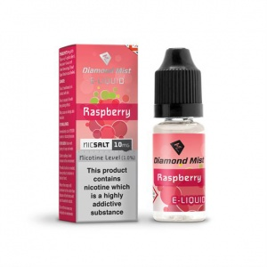 Diamond Mist Nic SALT Raspberry Flavour E-Liquid 10ml - 10mg & 20mg