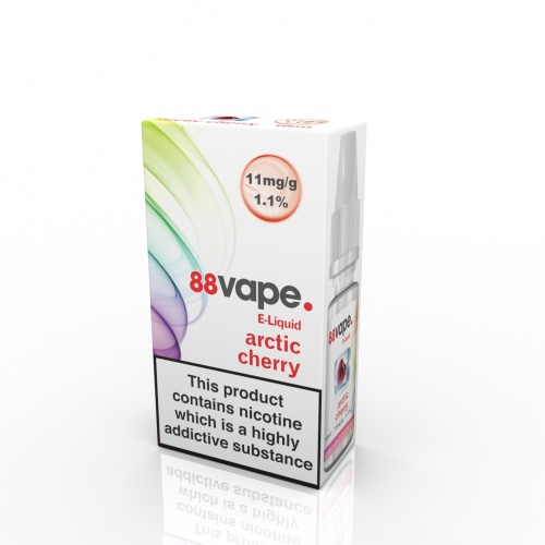 88 Vape - Arctic Cherry Flavour E-Liquid Refill Bottle 10ml