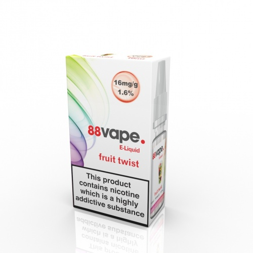 88 Vape - Fruit Twist Flavour E-Liquid Refill Bottle 10ml