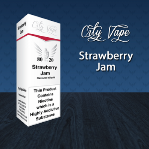 City Vape - Strawberry Jam E-Liquid 10ml (80VG/20PG)