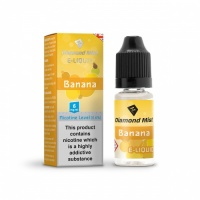 Diamond Mist - Banana Flavour E-Liquid Refill Bottle 10ml