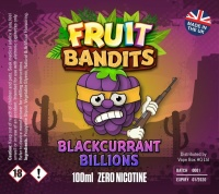 Fruit Bandits- Blackcurrant Billions  100ml Short Fill  - 0mg