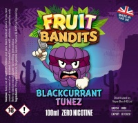 Fruit Bandits- Blackcurrant Tunez - 100ml Short Fill  - 0mg