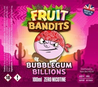 Fruit Bandits- Bubblegum Billions  100ml Short Fill  - 0mg