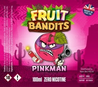 Fruit Bandits- Pinkman - 100ml Short Fill  - 0mg