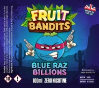 Fruit Bandits- Blue Raz Billions  100ml Short Fill  - 0mg