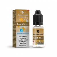 Diamond Mist - Gold & Silver Tobacco Flavour E-Liquid Refill Bottle 10ml