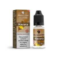 Diamond Mist - Havana Cigar Flavour E-Liquid Bottle 10ml