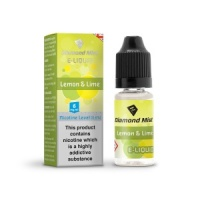 Diamond Mist - Lemon & Lime Flavour E-Liquid Refill Bottle 10ml