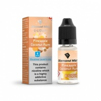 Diamond Mist - Pineapple Coconut Rum Flavour E-Liquid Refill Bottle 10m