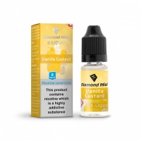 Diamond Mist - Vanilla Custard Flavour E-Liquid Refill Bottle 10ml