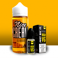 NICE CREAM PEACH COBBLER ICE CREAM 100ML - VAPE DEAL