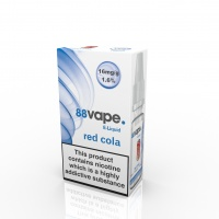 88 Vape - Red Cola Flavour E-Liquid Refill Bottle 10ml