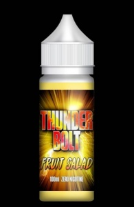 Thunder Bolt - Fruit Salad  - 100ml Short Fill  - 0mg